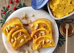 はちみつ&かぼちゃ クリームのトースト