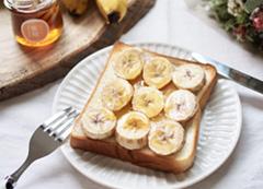 バナナ&チーズのハニートースト